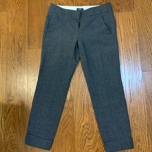 LOFT Wool Dress Ankle Pants, SZ 0P, Gray.